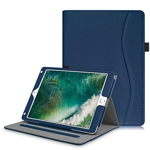 2018 2017 / iPad Air 2 / iPad Air Hülle - Multi-Winkel Betrachtung Folio Stand Schutzhülle Case Cover mit Dokumentschlitze, Auto Wake / Sleep für Apple iPad 9,7'' 2018 / 2017, iPad Air 1 / 2, Marineblau (Ipad Air-tastatur, Mit Lautsprecher)