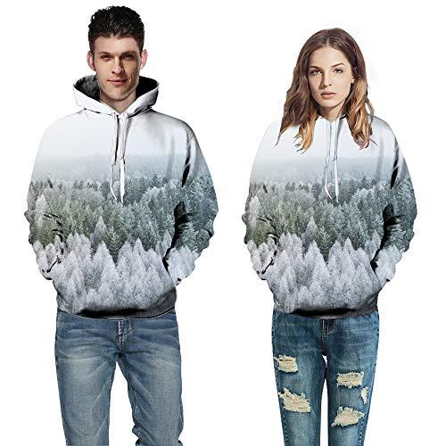 Hanomes Damen pullover, Männer Frauen Mode 3D Print Langarm Paare Hoodies Top Bluse Shirts