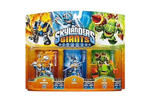 Skylanders: Giants - Triple Pack B: Chill, Zook, Ignitor - Figuren Skylanders Ps3