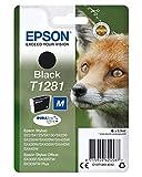 Epson Original C13T12814012 Fuchs, wisch- und wasserfeste Tinte (Singlepack) schwarz