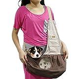 SAMGOO Mode Atmungsaktiv Netz Baumwolle Haustier Tasche Hundetasche Pet Tragetasche für klein Haustier Katze Hunde Welpen (braun)