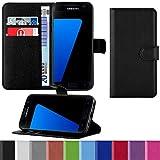 HANDYPELLE Premium Handyhülle für Samsung Galaxy S7 im Bookstyle in Schwarz