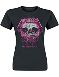 Unbekannt Metallica Wherever I May Roam Girl-Shirt Schwarz