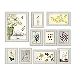 10 Multi Picture Frame Set, Photo Frame, Wall Frame Set with 10 High Quality Frames, Large photo frame wall set, Covers 84cm x 113cm, Best Wall Decorations, Vintage Picture Frames