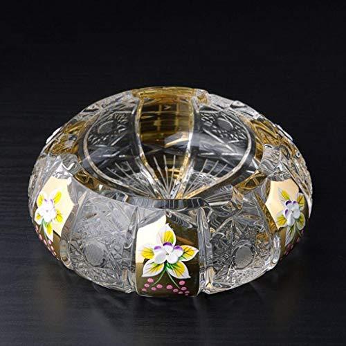 ZTMN Aschenbecher im Wert von Crystal Hand Carved Pure Hand Carving Enthält 24% Crystal Crystal Clear (Crystal Zigarette Aschenbecher)