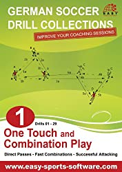 One Touch and Combination Play (German Soccer Drill Collections Book 1)