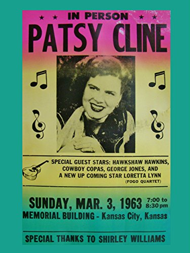 Patsy Cline aktions-forza di concerto posters 40 x 30 cm