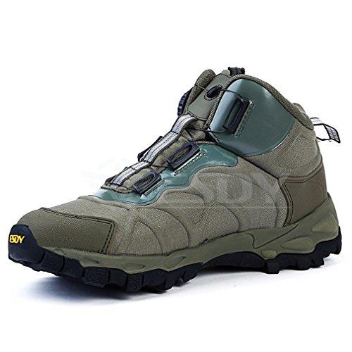 Emansmoer Herren Herren Herren Wasserdicht Atmungsaktiv Outdoor Sport Klettern Wandern Trekking Stiefel High-top Armee Combat Schuhe Grün ea0e87
