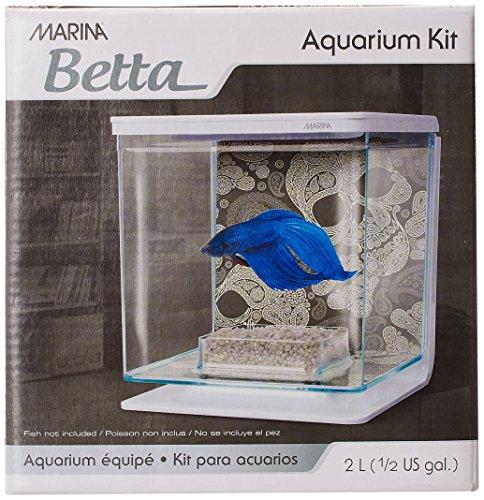 Marina Betta Kit Aquarium für Kampffische, Totenkopf-Design, 2 l