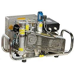 HTD Compresseur pneumatique 100 l/Min 300 Bar Moteur électrique 220 V Boîtier en Acier Inoxydable