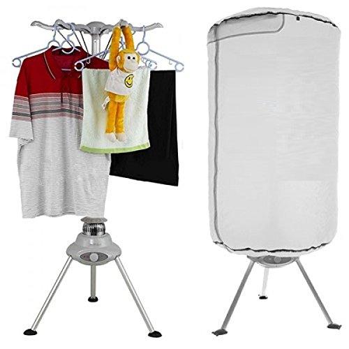 Tsc® asciugatrice portatile stendibiancheria verticale elettrico riscaldante ad aria calda–1000w–dry baloon bianco