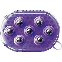 Gant Double Face étrille Et Massage - Violet