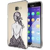 Samsung Galaxy A5 2016 Coque Protection de NICA, Housse Motif Silicone Portable Premium Case Cover Transparente, Ultra-Fine Souple Gel Slim Bumper Etui pour A5-16, Designs:Bird Princess