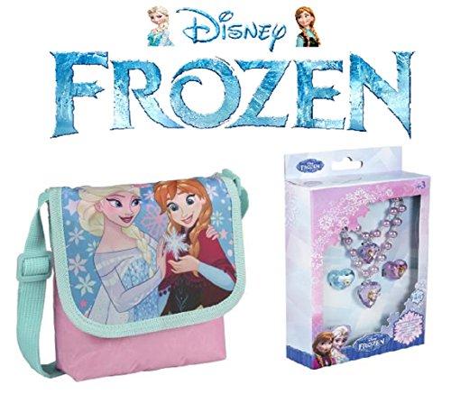 Frozen borsa a tracolla + frozen gioielli 4 pezzi