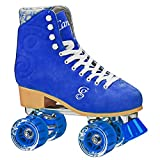 Roller Derby RD Retro Classic Figure Quad Skates Rollschuhe Candi Carlin (Electric Blue, US 8 / EU 40)