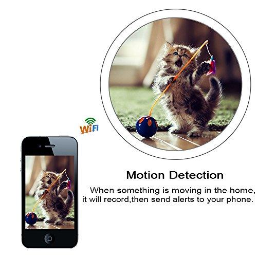 WIFI Mini Spy Cam Telecamera Nascosta Microcamere Spia Hidden Camera TANGMI 1080P HD Wireless Motion Detection DIY Videocamera 7/24 Ore di Lavoro Android iPhone IOS 140°Angolo di Vista Ampio - 5