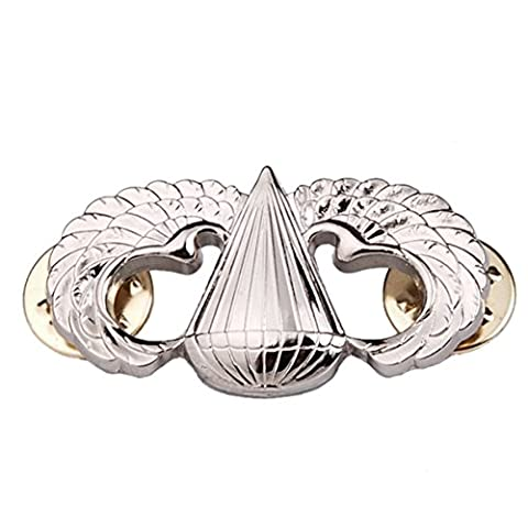 Generic US Army Airborne Paratrooper Parachutist Jump Wings Badge Insignia Pin Color Silver
