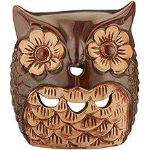 Hosley de cerámica calentador de aceite de búho. Ideal para Spa y aromaterapia. Uso con Hosley marca aceites esenciales y aceites perfumados.
