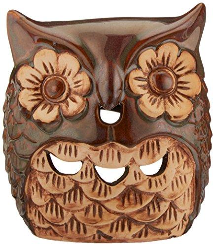 HOSLEY Wärmer Keramik Eule Öl. Ideal für Spa und Aromatherapie. Verwendung mit HOSLEY Marke ätherischen Ölen und Duft Öle.