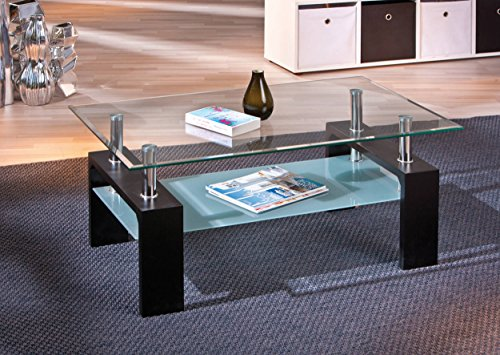 Left 50100045 Glass Coffee Table Living Room Coffee Table Black Glass Table New
