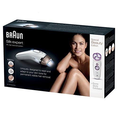 Braun Silk-Expert 5 IPL BD 5009 Epilatore a Luce Pulsata per l'Epilazione Definitiva dei Peli Visibili, Bianco/Bronzo