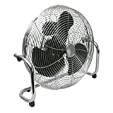 Q-Connect 3 Speed 18 inch High Velocity Floor Standing Fan - Chrome
