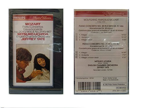 NEW Factory Sealed' DCC: Mozart - Piano Concertos Nos. 21 & 22 DCC Tape - Compatible with 'DIGITAL Compact Cassette' Machines Only (Philips Cassette Tape)