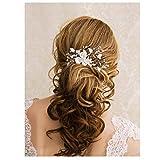 Simsly - Pettine per capelli da sposa, a forma di fiore, per donne e ragazze