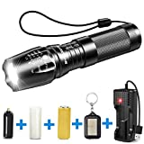 BYBLIGHT 800 Lumens CREE LED Torch, Adjustable Focus LED Flashlight with USB Charger