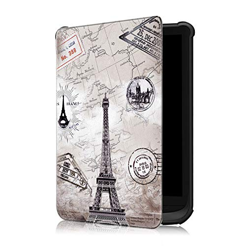 Fmway PU Leder Flip Cover Hülle mit Auto Schlaf/Wach Funktion Case Tasche für Pocketbook Touch HD 3 / Touch Lux 4/ Basic Lux 2