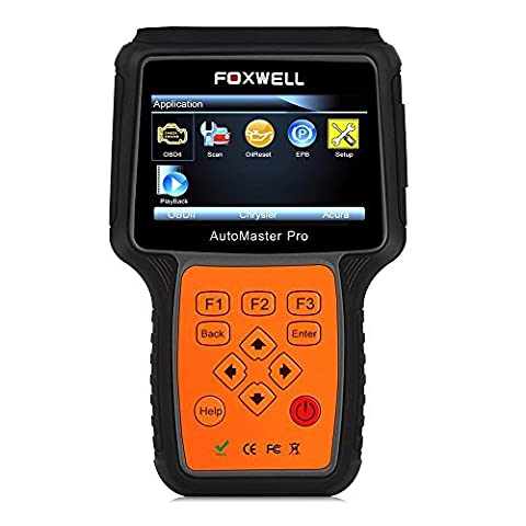 Car Diagnostic Tool Foxwell NT614 Diagnostic Scanner 4 System All Brand Check & Reset Engine ABS SRS A/T Service Light + EPB Oil Service Reset Code