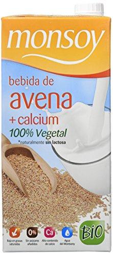 MONSOY Bebida de Avena con Calcio Ecologica 1L [caja de 4 x 1L]