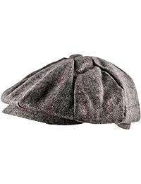 439d7f79d4a Itzu Baker Boy Newsboy Flat Cap Hat Gatsby 8 Panel in Tweed Check Twill