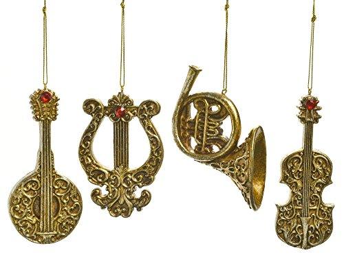 Caffco Gold Filigran Orchestra lnstrument Ornaments (Die Metronom-store)