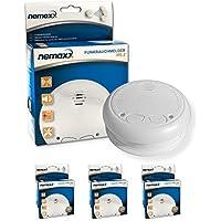 3X Nemaxx WL2 detectores de Humo inalámbricos - con DIN EN 14604