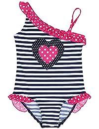 iEFiEL Traje de Baño Rayado Bikini Bañador de Un Pieza para Niña Bebé de Vacaciones de Verano