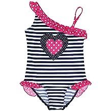 iEFiEL Traje de Baño Rayado Bikini Bañador de Una Pieza para Niña Bebé de Vacaciones de Verano