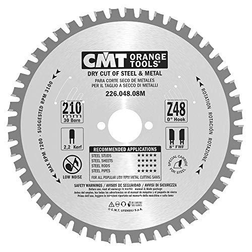 CMT Orange Tools 226,048,08 m métaux pour scie circulaire 210 x 2,2 z fwf 48 30 x 8 échelons