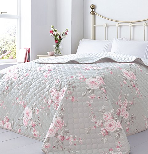 Catherine Lansfield Canterbury Bedspread, Grey, 240x260cm