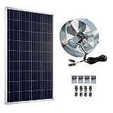 ECO-WORTHY - Panel solar con ventilador de 25W, L07P100-SV40-1