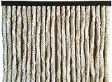 habeig Türvorhang Flauschvorhang Flauschi Chenille Insektenschutz uni-farben