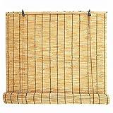 Tende di bambù per Esterno Tenda a Rullo avvolgibile per tapparelle Tapparella di Bamboo Avvolgibile Bambu Pieghevole Tendepalloncino plissettate Verticali tapparelle in Legno,Color 100x300cm