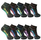 12 Paar modische Damen Mädchen Sneaker Socken Füßlinge Baumwolle trendige Farben 35-38 ; 39-42 (35-38, Muster 6)
