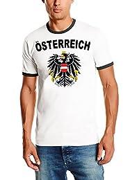 EM 2016 Österreich Adler T-SHIRT mit Deinem NAMEN + NUMMER ! Austria Fußball Trikot Ringer weiß S M L XL XXL