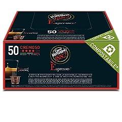 Idea Regalo - Caffè Vergnano 1882 Èspresso Cremoso, 50 Capsule, Compatibili Nespresso