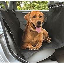 Valuetom Funda protectora para mascotas, para asientos traseros del coche o maletero, de material resistente PET, impermeable, color negro