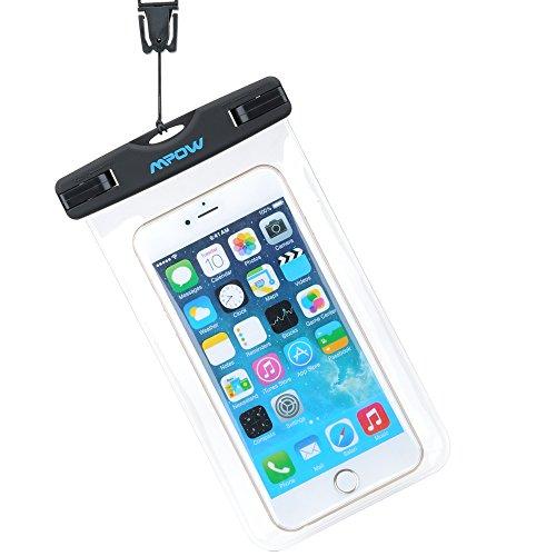 Custodia Impermeabile Cellulare 6 Pollici Mpow Custodia Impermeabile Waterproof Antipolvere Pouch Borsa con [IPX8 Certified], per Huawei P9 / P8, iPhone 7/ 7 Plus/ SE / 6s / 6s Plus / 6 / 6 Plus / 5s / 5c / 5, Samsung S7 / S7 edge / S6 / S5 ed altri Cellulari di Apple & Android Meno di 6 Pollici