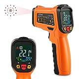 ES6530B Digital Laser IR Infrarot Thermometer Berührungsloser für Küche Kochen Automotive, -58 ℉ bis 1022 ℉ (-50 ℃ bis 500 ℃) mit Hintergrundbeleuchtung LCD Display und perfekte Lesegenauigkeit, Orange und Schwarz