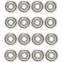 20 Pack Ruesious 608 ZZ Kugellager, 608zz Metall Double Shielded Miniatur Rillenkugellager (8mm x 22mm x 7mm) (20 Pack 608 ZZ)