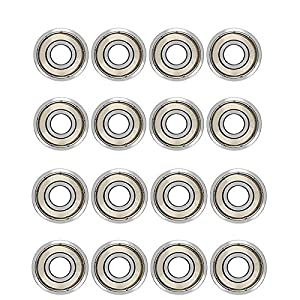 20 Pack Ruesious 608 ZZ Kugellager, 608zz Metall Double Shielded Miniatur Rillenkugellager (8mm x 22mm x 7mm) (20 Pack 608 ZZ)